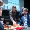 Levon Aronian Robert Emms Fischer Ronan Raftery Spassky Malcolm Pein CSC and Magnus Carlsen Photography courtesy of London Chess Classic