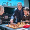 Robert Emms (Fischer), Malcolm Pein (CSC) and Ronan Raftery (Spassky) [Photography courtesy of London Chess Classic]